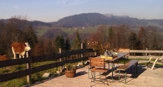 ... und der Blick von der Alm-Terrasse